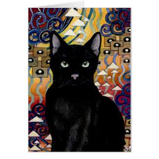 gato del nouveau del arte tarjetas