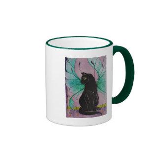 Gato del ónix taza a dos colores