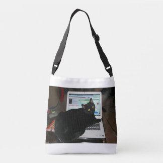 Gato del ordenador bolsa cruzada