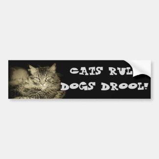 Gato del parachoque del Drool de los perros de la Pegatina Para Auto