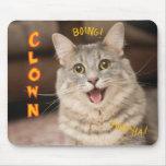 Gato del payaso mousepads