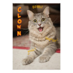 Gato del payaso poster