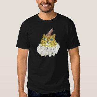 Gato del payaso remeras