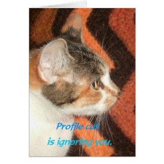 Gato del perfil tarjeta de felicitación