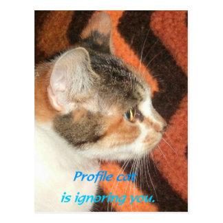 Gato del perfil tarjetas postales