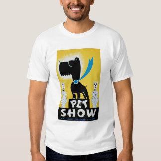 Gato del perro de la demostración del mascota WPA Playeras