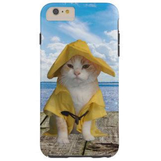 Gato del pescador del EL Gato en impermeable de la Funda De iPhone 6 Plus Tough