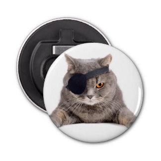 Gato del pirata abrebotellas redondo