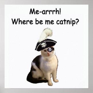 Gato del pirata poster