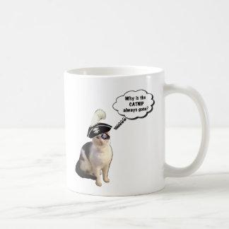 Gato del pirata taza de café