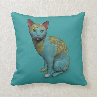Gato del planeta cojín