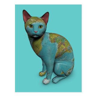 Gato del planeta postales