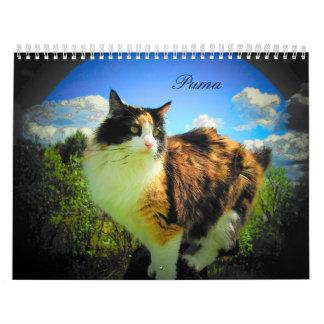 Gato del puma mi calicó II del top model Calendario