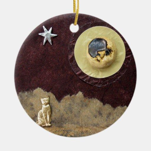 Gato del rayo de luna - collage ornamentos de reyes