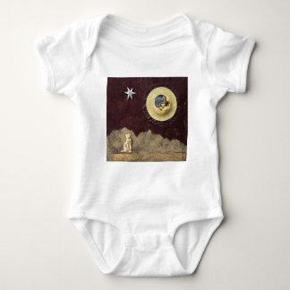Gato del rayo de luna - collage mameluco de bebé