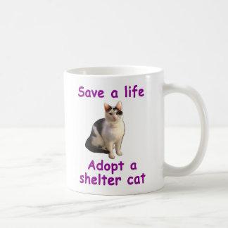 Gato del refugio tazas de café