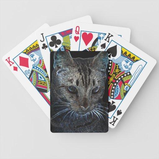 gato del resplandor barajas de cartas