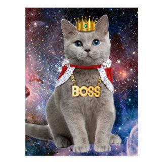 gato del rey en el espacio postal