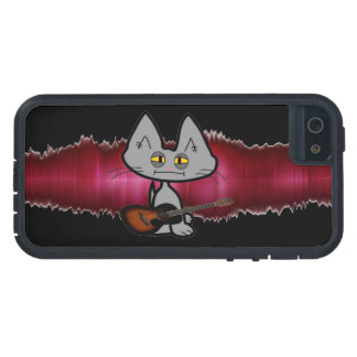 Gato del rock-and-roll iPhone 5 protector