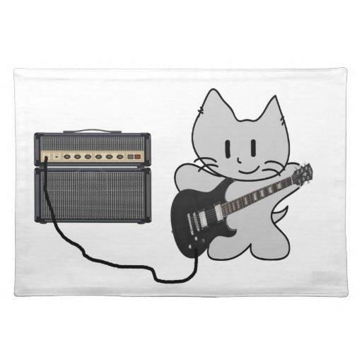 Gato del rock-and-roll mantel