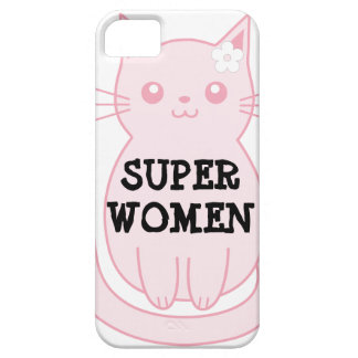 Gato del rosa del caso del iPhone 5/5S de Barely iPhone 5 Fundas