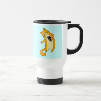 Gato del saludo taza térmica