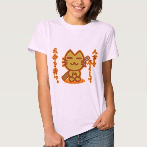 Gato del samurai playera