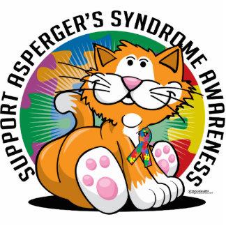 Gato del síndrome de Asperger Fotoescultura Vertical