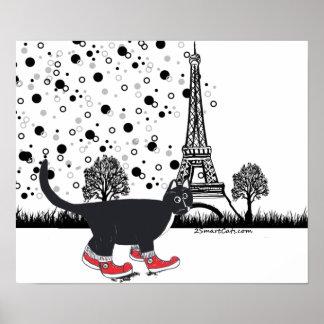 Gato del smoking en el poster de París