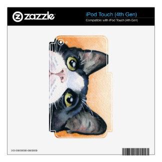 Gato del smoking iPod touch 4G calcomanía