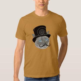 Gato del sombrero de copa del bigote por Nemo Remeras