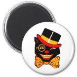 Gato del sombrero de copa imanes