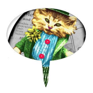 Gato del St. Paddys Decoración De Tarta