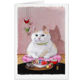 Gato del sushi - Sweetie del Sashimi Tarjeta De Felicitación