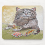 Gato del sushi - Udon Mousepad del Tempura