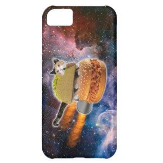 gato del taco y hamburguesa del cohete en el carcasa iPhone 5C