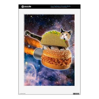 gato del taco y hamburguesa del cohete en el consola PS3 calcomanía