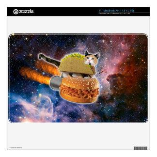 gato del taco y hamburguesa del cohete en el skins para 27,9cm MacBook air