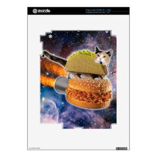 gato del taco y hamburguesa del cohete en el skins para eliPad 2