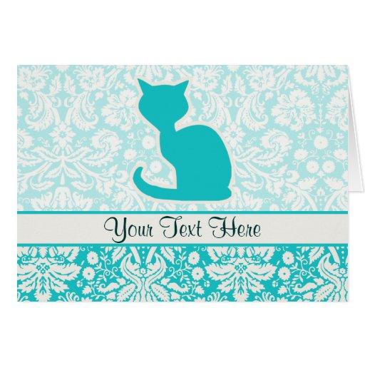 Gato del trullo tarjeta de felicitación