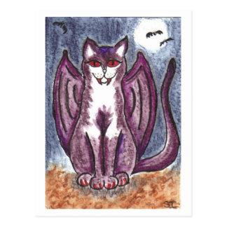 Gato del vampiro tarjeta postal