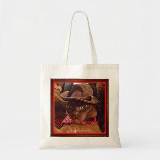 Gato del vaquero, actitud 4, color bolsa tela barata