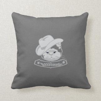 Gato del vaquero de la actitud almohadas