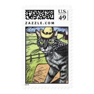 Gato del vaquero - Lora Shelley Sello