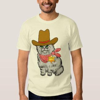 Gato del vaquero remera