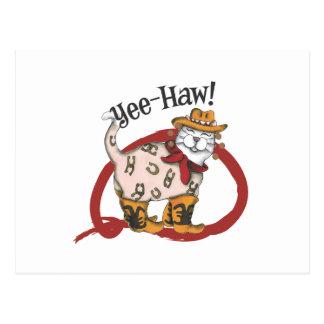 Gato del vaquero tarjetas postales