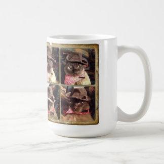 Gato del vaquero x 4 taza clásica