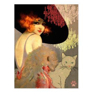 Gato del Veronica y postal de la lámpara