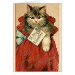 Gato del Victorian en tarjeta del el día de San
