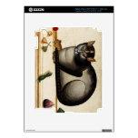 Gato del vintage con el ratón pegatina skin para iPad 3